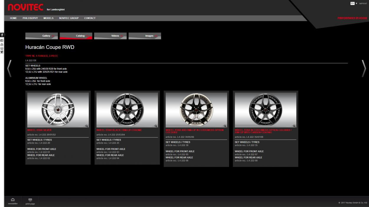 novitec corporate website katalog
